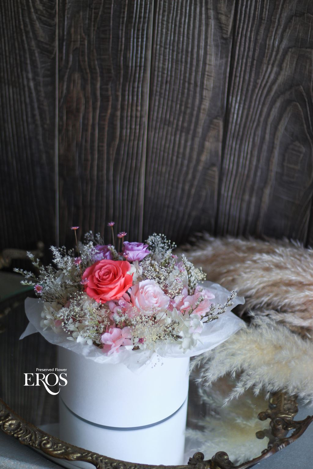 永生花花禮盒、不凋花花禮盒、乾燥花花禮盒、情人節禮物、告白禮物、結婚紀念日禮物