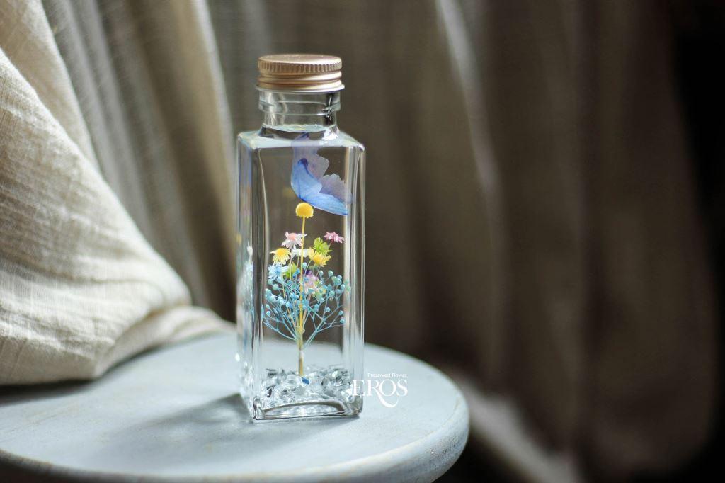 浮游花花禮、浮游花小夜燈、乾燥花浮游花、浮游花LED燈禮盒