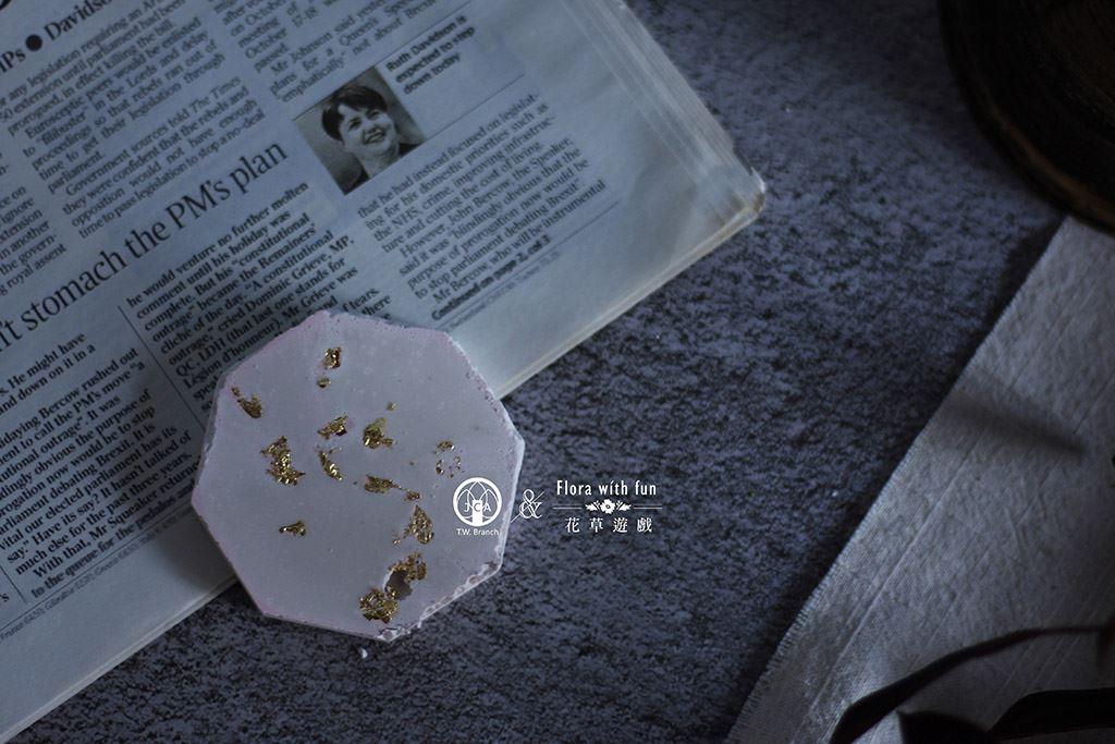 金屬感石膏杯墊組~單品藝術蠟燭體驗課~花草遊戲藝術蠟燭單品課程系列