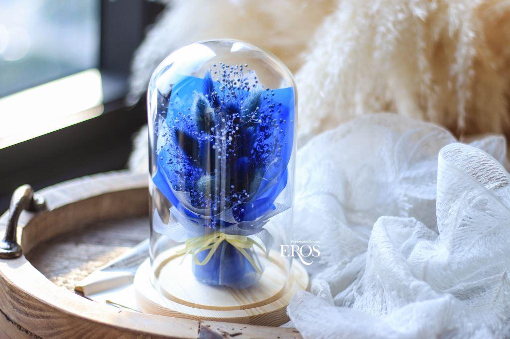 畢業花束、畢業禮物、玻璃罩花禮、永生花玻璃罩、玻璃罩乾燥花、玻璃罩盅、玻璃鐘罩、花 玻璃屋