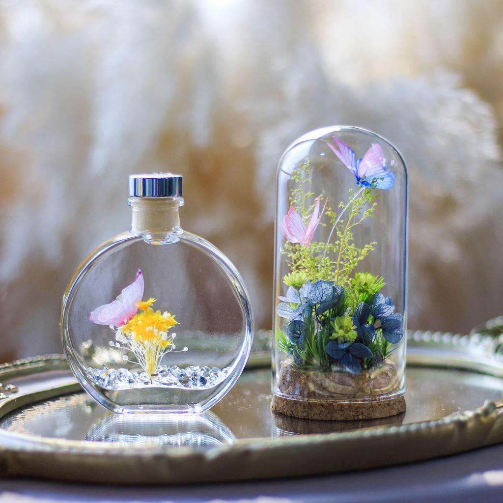 玻璃罩花禮、永生花玻璃罩、玻璃罩乾燥花、玻璃罩盅、玻璃鐘罩、花 玻璃屋