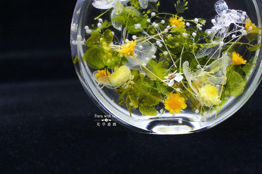 浮游花手作體驗課程、乾燥花體驗課、不凋花體驗課、永生花玻璃罩盅、手作活動、花藝課程、花藝教學
